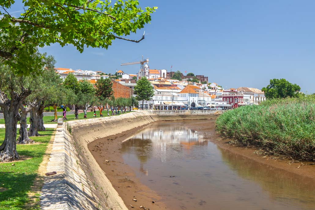 Silves village with a river