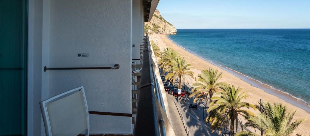 Uitzicht op balkons in de SANA Sesimbra