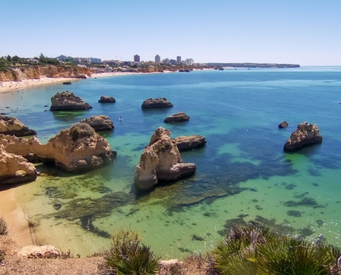 Alvor Coastline, start point for for the Cave Tour